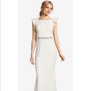 BHLDN Adrianna Papell flutter sleeve wedding dress